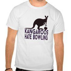 Kangaroos hate bowling camiseta