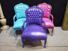 comfy, colourful chairs