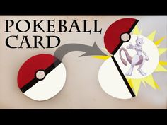 Pokemon DIY - EASY Pokeball card - YouTube