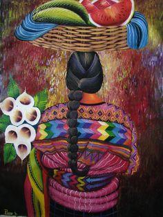 Pedro Sosof. Pintor de Guatemala.