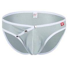 NewChic - NewChic WANGJIANG Sexy Ice Silk Mesh Breathable Underwear Low Rise Briefs for Men - AdoreWe.com