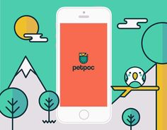 I was asked to design & illustrate a new app called Petpoc.I designed the branding and from there I worked on the character, icons and pattern design as well as the whole screen design.So, if you own a pet and have an iPhone, you will love Petpoc!Go t…