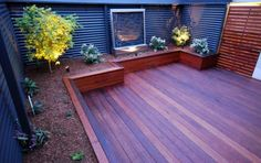 love the decking turning into garden beds
