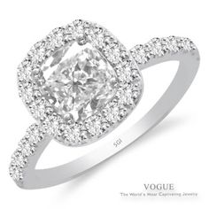 """Say """"yes"""" to this Stunning 14K White Gold Halo Diamond Engagement Ring.  28 Round Brilliant Cut Diamonds"""