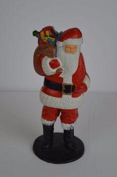 Cast Iron Santa Claus Painted Bank Door Stop Tall Christmas Door Stop, Sale On, Cast Iron, Santa, Doors, Christmas, Painting, Ebay, Xmas