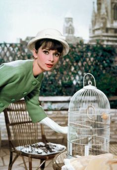 Audrey Hepburn on the set of Paris When it Sizzles. Photograph by Bob Willoughby.