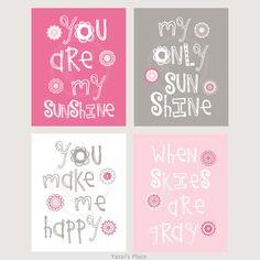 Pink and gray Playroom artwork