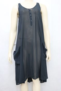 Levi's Womens Black Sheer Chiffon Hi Low Asymmetrical Casual Belted Utility Dress Size Small