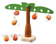 Balansujące drzewko z małpkami, Plan Toys | Gry drewniane, zabawy w domu i w plenerze \ Zabawy edukacyjne | MaxiZabawa.pl