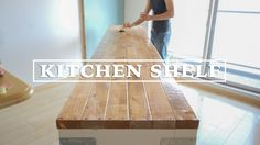 [DIY] キッチンの棚を作ってみた!その4 ☆ Making Long Kitchen Shelf #4