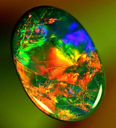 GEM Red Black Opal 3.00ct ❦ CHRYSTALS ❦ semi precious stones ❦