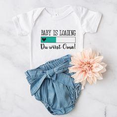 """Baby Body """"Du wirst Oma"""" türkis - Herzpost Aunt Gifts, Grandma Gifts, Tears Of Joy, Pregnancy Test, Baby Party, Baby Bodysuit, Baby Names, Your Child"""