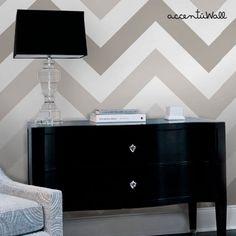 Chevron Warm Grey Peel and Stick Fabric Wallpaper - 2ft x 4ft ...
