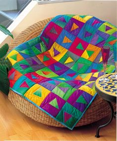 Let's begin with a little lamb photo - I know you can't get ... : colourful patchwork quilt - Adamdwight.com