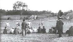 Baseball history photo: Baseball game at Saratoga Springs, New York circa 1880.