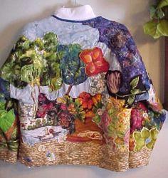 Sweatshirt Jacket Back Inspired from Longwood Garden visit