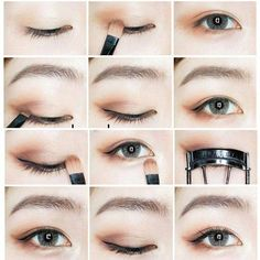Trendy makeup summer eyeshadow make up ideas Korean Makeup Tips, Korean Makeup Tutorials, Makeup Tutorial For Beginners, Eye Makeup Tips, Eyeshadow Makeup, Makeup Ideas, Korean Beauty, Makeup List, Makeup Hacks