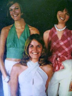 70s Halter Tops. My Mom made me a bunch of these for the summers