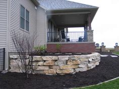 Retaining wall rock
