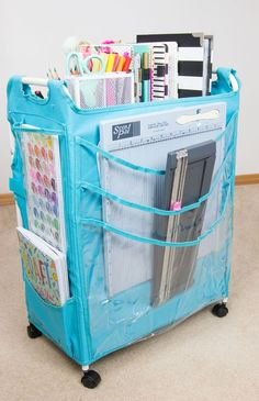 d7b9ad519b3 Craft cart apron idea. Scrapbook Organization, Craft Organization,  Organisation, Scrapbook Storage,