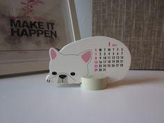 Navy Bean: Sleeping French Bulldog Calendar