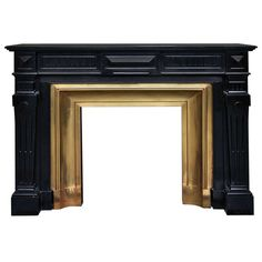 Fantastic Totally Free unique Fireplace Mantels Style Napoleon III Style Antique Fireplace in Black Belgium Marble Century Art Deco Fireplace, Fireplace Grate, Stone Fireplace Mantel, Vintage Fireplace, Family Room Fireplace, Black Fireplace, Victorian Fireplace, Fireplace Surrounds, Fireplace Design