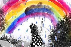 子どもの発想は自由だ。  虹色ではない虹があっても不思議ではない。  http://timein.jp/item/content/memo/980199155