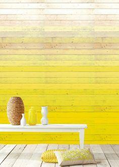 L'idée déco du jour : peindre un mur dans un dégradé de jaune. Plus d'idées déco sur notre tableau Pinterest JAUNE https://fr.pinterest.com/bonjourbibiche/jaune/ #tendance #decoration #yellow