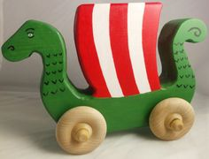Viking Themed Handmade Wood Toy Boat Toy Ship Perfect Toy For Any Baby Viking! By Norse Kid Crafts Wooden Projects, Wood Crafts, Viking Baby, Push Toys, Handmade Wooden Toys, Toy Dragon, Kids Wood, Wooden Art, Custom Woodworking