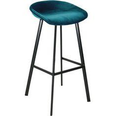 Kick barkruk Finn velvet - blauw Furniture Repair, Pallet Furniture, Home Kitchens, Bar Stools, New Homes, Diy Projects, Velvet, Chair, Wood