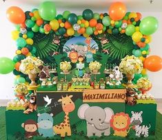2nd Birthday Party For Boys, Jungle Theme Birthday, Baby Boy Birthday, Dinosaur Birthday Party, Wild One Birthday Invitations, Safari Invitations, Birthday Party Decorations, Baby Shower Decorations, Jungle Theme Cakes