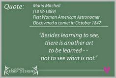 Quote:  Maria Mitchell