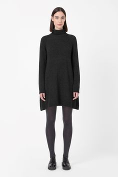 Roll-neck knit dress