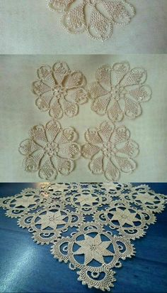 This Pin was discovered by Hac Crochet Shawl, Crochet Doilies, Needle Lace, Tatting, Diy And Crafts, Embroidery, Handmade, Wedding, Linen Tablecloth