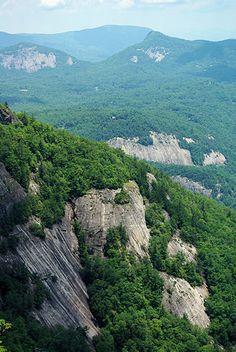 Whiteside Mountain, NC - just outside Highlands, moderate hike, insane views.