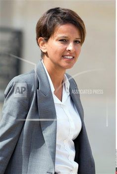 French Minister for Women's Rights, Cities, Sports and Youth Najat Vallaud-Belkacem leaving the Elysee Presidential Palace after the weekly cabinet meeting in Paris, FRANCE-20/08/2014. (Photo/:NIVIERE/SIPA) (Sipa via AP Images)