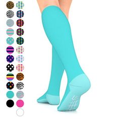 Hard-Working 1 Pair Fashion Unisex Men Women Leg Support Stretch Magic Knee High Compression Socks Fitness Varicose Cotton Socks Anti Fatigue Dependable Performance Underwear & Sleepwears
