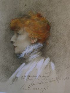 Study of Sarah Bernhardt by Louise Abbema, 1891.