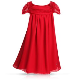 Oh my gosh!!! Ryleigh would look STUNNING in this...BABY DIOR - Red pleated silk georgette crêpe dress