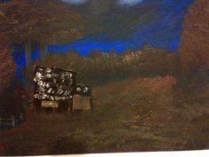 Cabin - Oil on Canvas