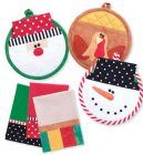 Happy Holidays Potholders & Tea Towels Sewing Pattern