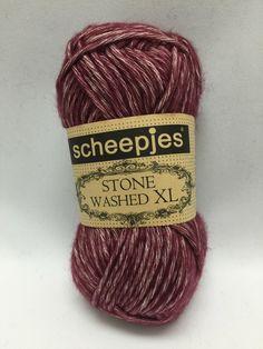 Sheepjes Stone Washed XL, Garnet, 850, Purple Yarn, yarn, Ruby, Cotton Yarn by GoodFiberYarns on Etsy https://www.etsy.com/listing/262354980/sheepjes-stone-washed-xl-garnet-850