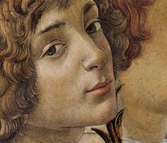 Mary with the Child and Singing Angels (detail), c 1477, Botticelli.