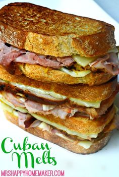 Cuban Sandwiches are a new fascination of mine. I didn't have one up until a couple months ago, and instantly I fell in love with the flavors. I'd been making a traditional Cuban sandwich for a while Grill Sandwich, Panini Sandwiches, Toast Sandwich, Soup And Sandwich, Wrap Sandwiches, Sandwiches For Dinner, Appetizer Sandwiches, Appetizers, Paninis