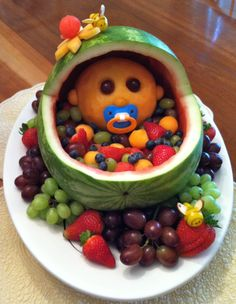 food for baby shower ideas ~ food for baby shower ideas ; food for baby shower ideas appetizers ; food for baby shower ideas simple ; food for baby shower ideas boys ; food for baby shower ideas recipes for ; food for baby shower ideas families Baby Shower Fruit Tray, Gateau Baby Shower, Idee Baby Shower, Baby Shower Snacks, Shower Bebe, Baby Shower Themes, Baby Boy Shower, Baby Shower Decorations, Baby Shower Gifts