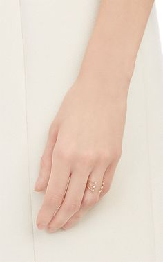 Jennie Kwon Diamond & Gold Tri-Band Cuff Ring - Alternative - Barneys.com