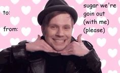 Fall out boy Valentines For Boys, Funny Valentine, Valentine Day Cards, Fall Out Boy Tumblr, My Tumblr, Fall Out Boy Memes, Emo Bands, Music Bands, Bae