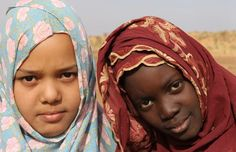Village girls, Um Leksheb, Mauritania   *No endorsement of Spirit of America by the US Department of Defense or its personnel is intended or implied*   #SpiritofAmerica
