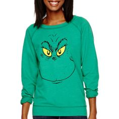 Long-Sleeve Christmas Sweatshirt  found at @JCPenney