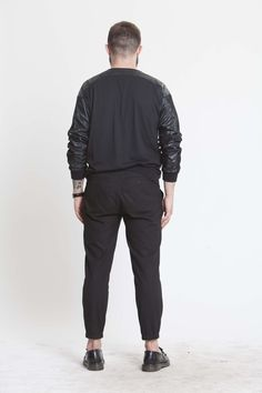 faux leather and gum sweatshirt.Conspiracy collection on www.individuell.it/shop